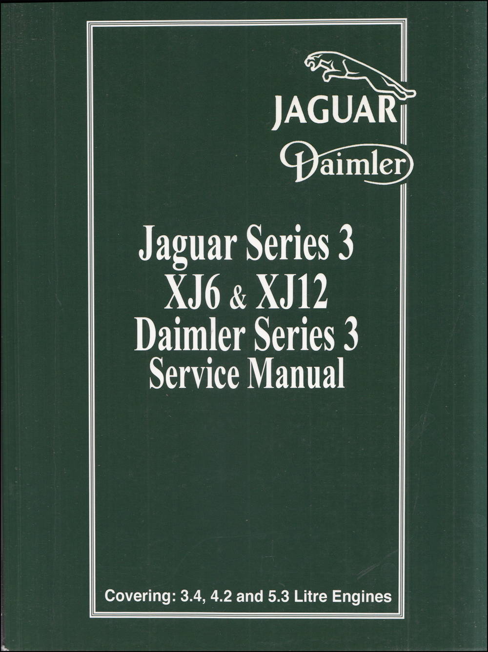 1979-1987 Jaguar XJ6 and XJ12 Repair Manual Reprint