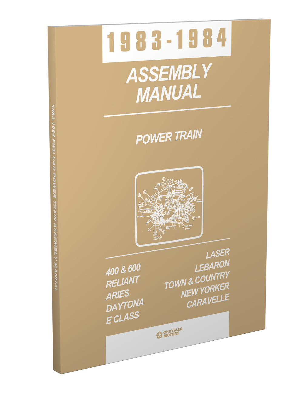 1983-1984 Mopar Car Power Train Assembly Manual Reprint
