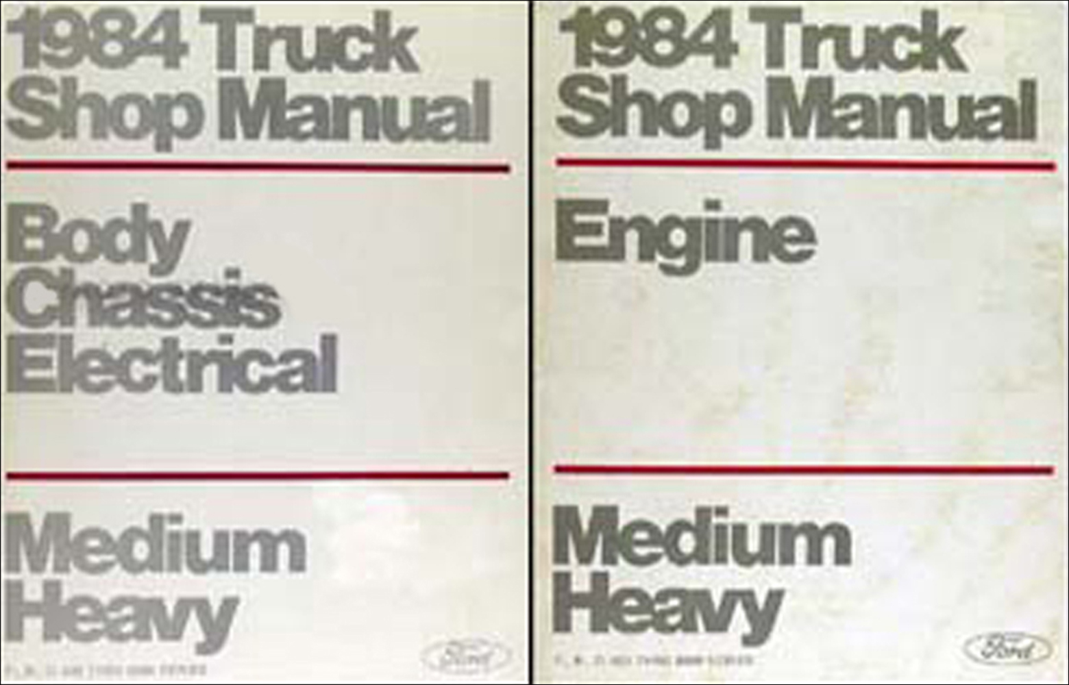 1984 ford f b c 600-8000 medium/heavy truck repair shop manual set original