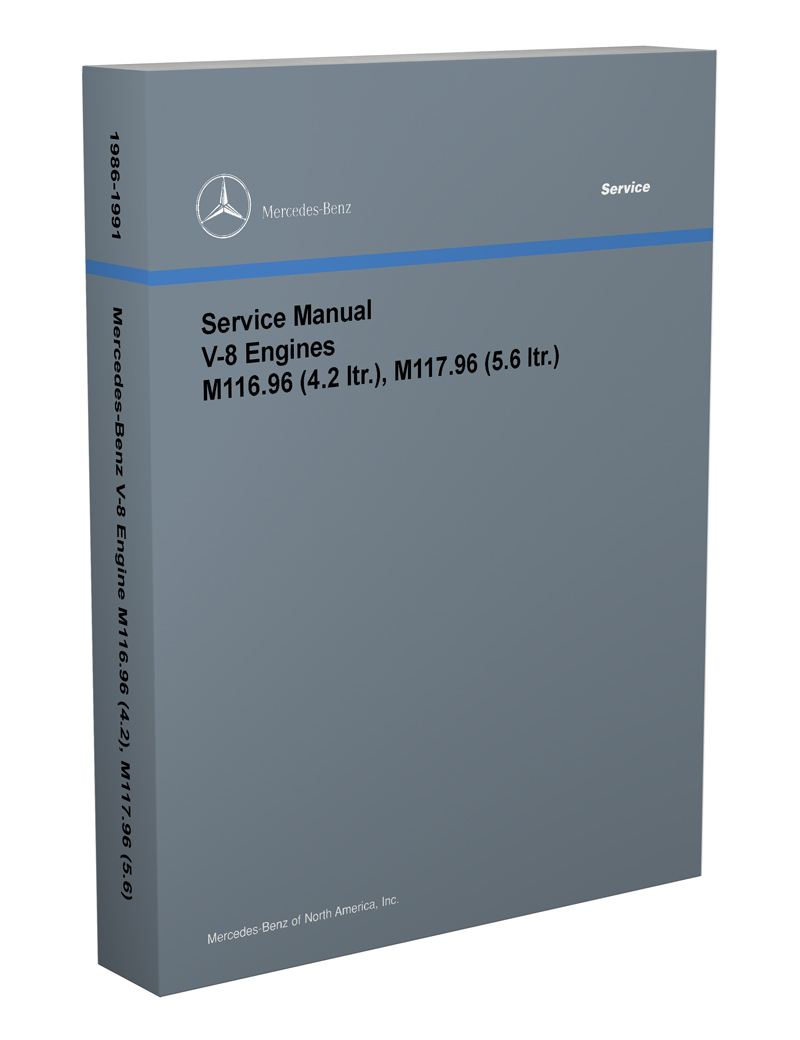 1986-91 Mercedes 4.2 & 5.6  M116-M117 Engine Reprint Repair Manual
