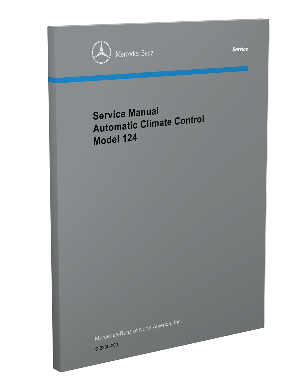 1986-92 Mercedes 124 A/C & Heater Reprint Repair Manual