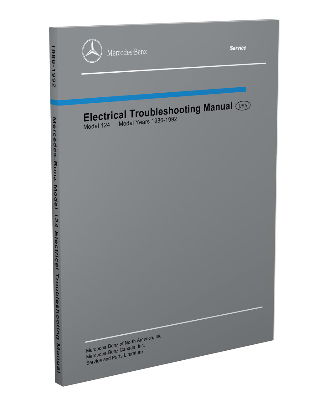 1986-1992 Mercedes 124 Electrical Troubleshooting Manual Reprint