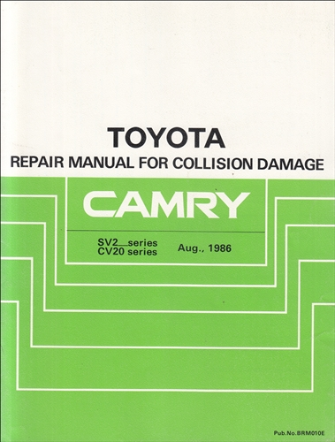 1987-1991 toyota camry body collision repair shop manual original