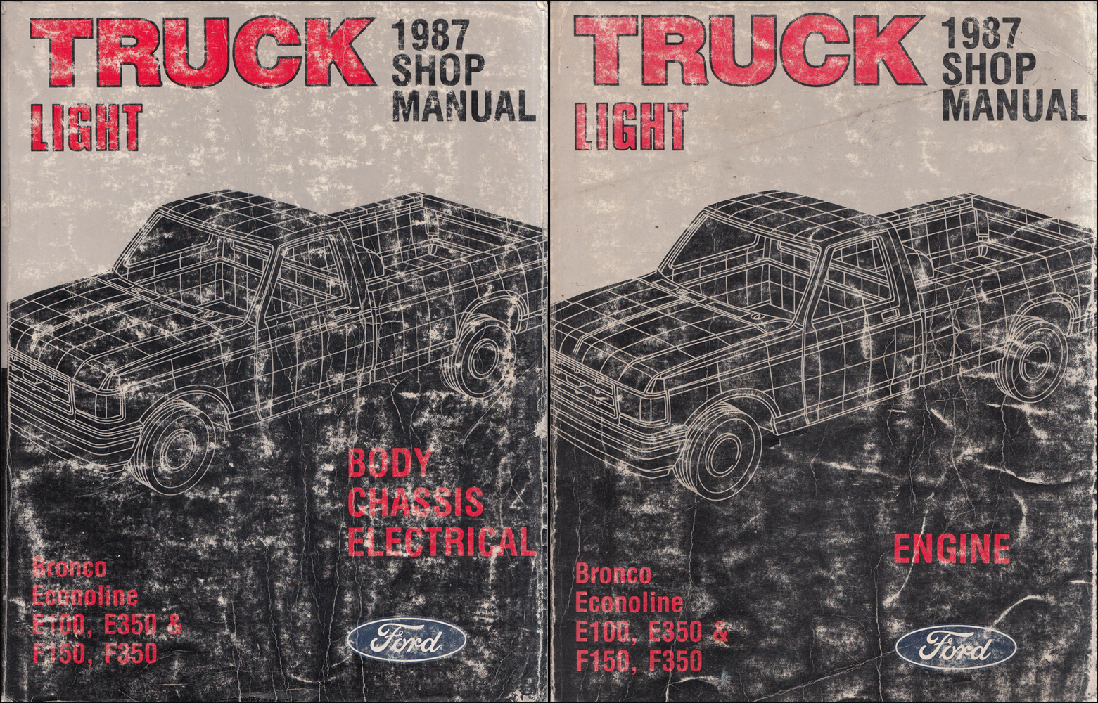 1987 Ford Pickup Truck Repair Shop Manual Econoline Van F150 F250 F350 Bronco