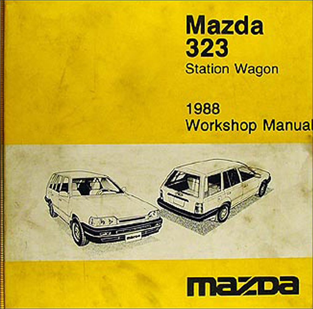 1988 Mazda 323 Station Wagon Repair Manual Original