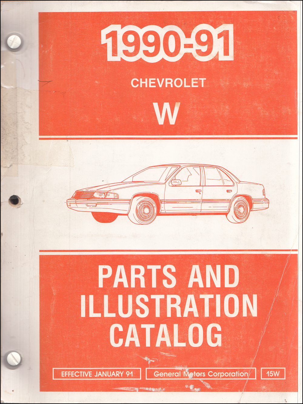 1990-1991 Chevrolet Lumina Car Parts Book Original