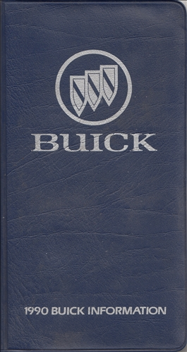 1990 Buick Pocket Facts Book Original