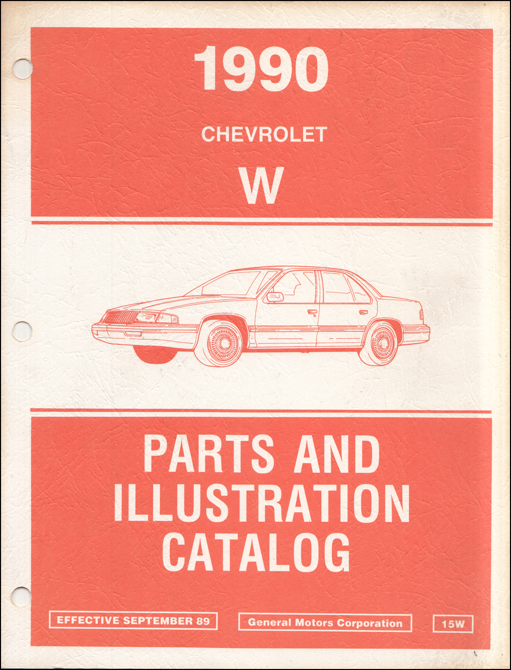 1990 Chevrolet Lumina Car Parts Book Original
