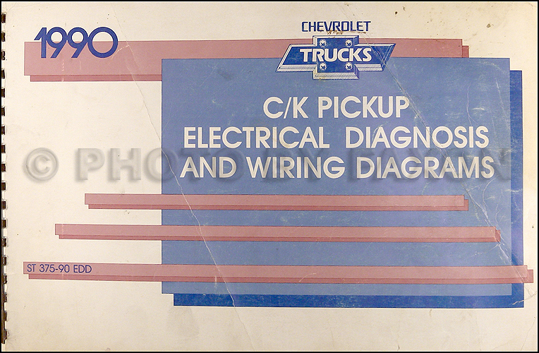 1990 Chevy C/K Pickup Wiring Diagram Manual Original