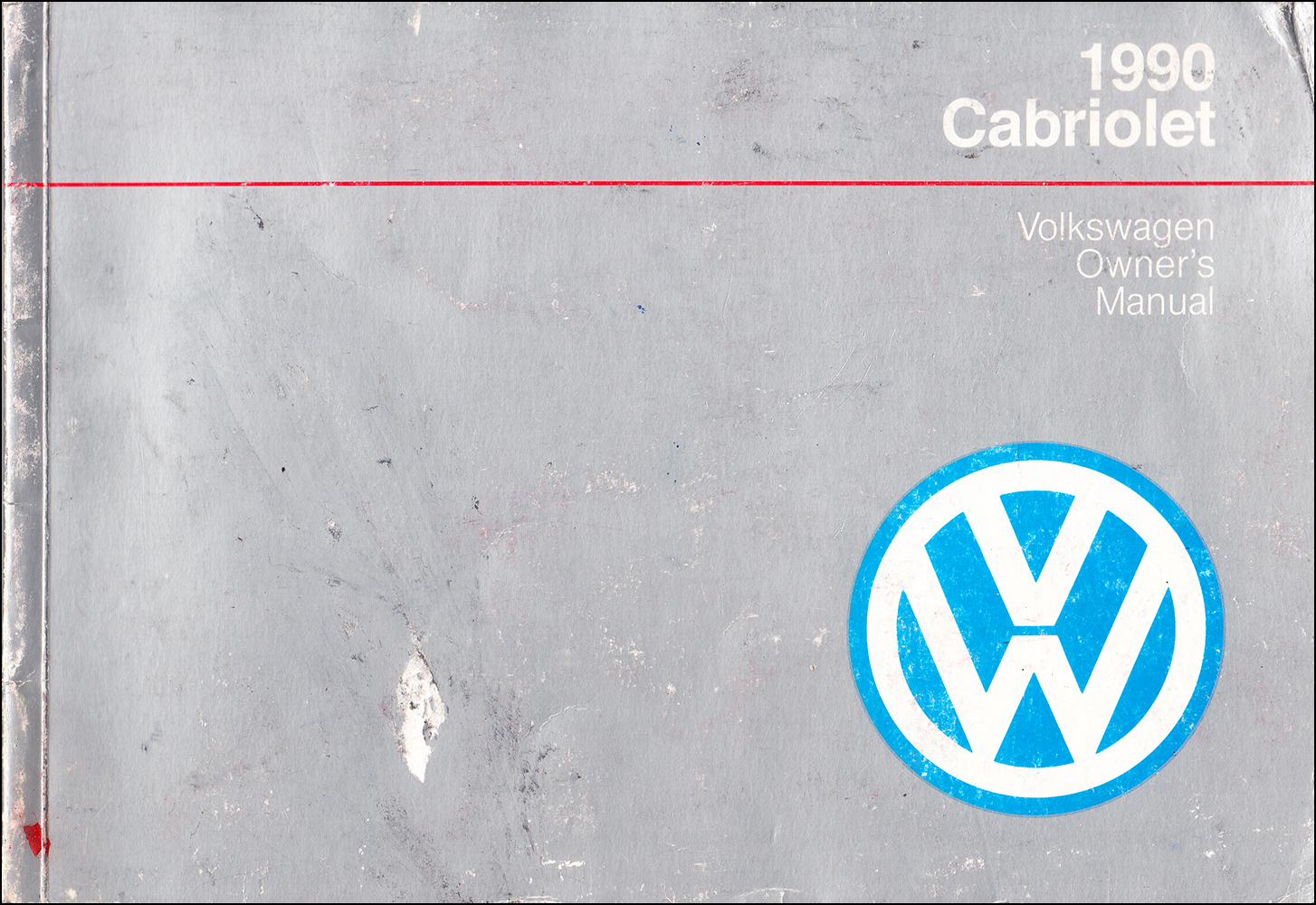 1990 Volkswagen Cabriolet Owner's Manual Original