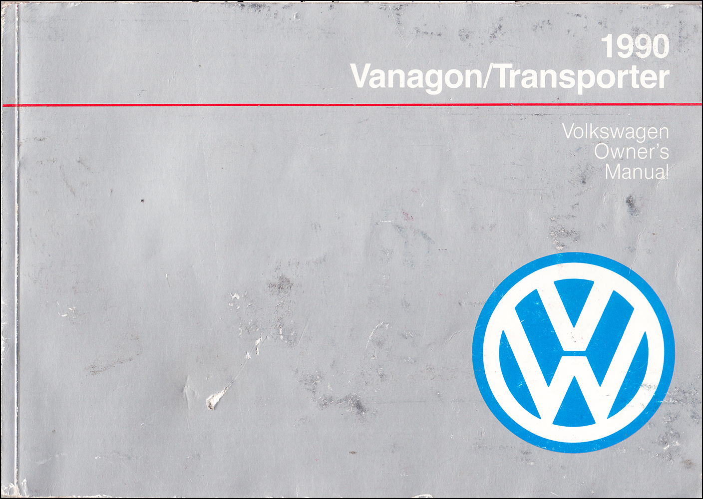 1990 Volkswagen Transporter/EuroVan Owner's Manual Original