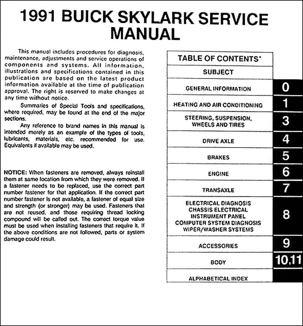 1991 Buick Skylark Wiring Diagram Diagrams Simple Options Jeep Wrangler