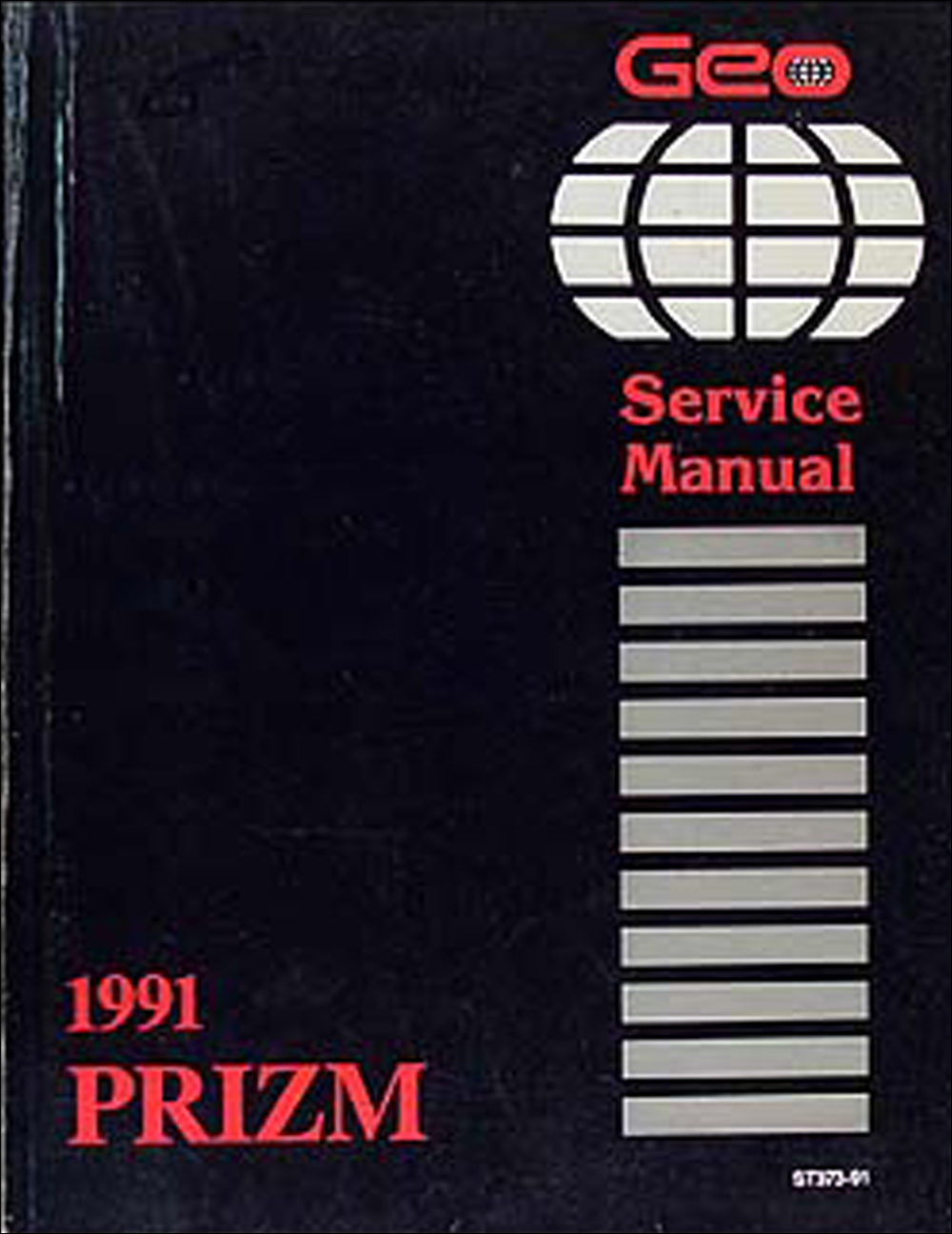1991 Geo Prizm Repair Manual Original
