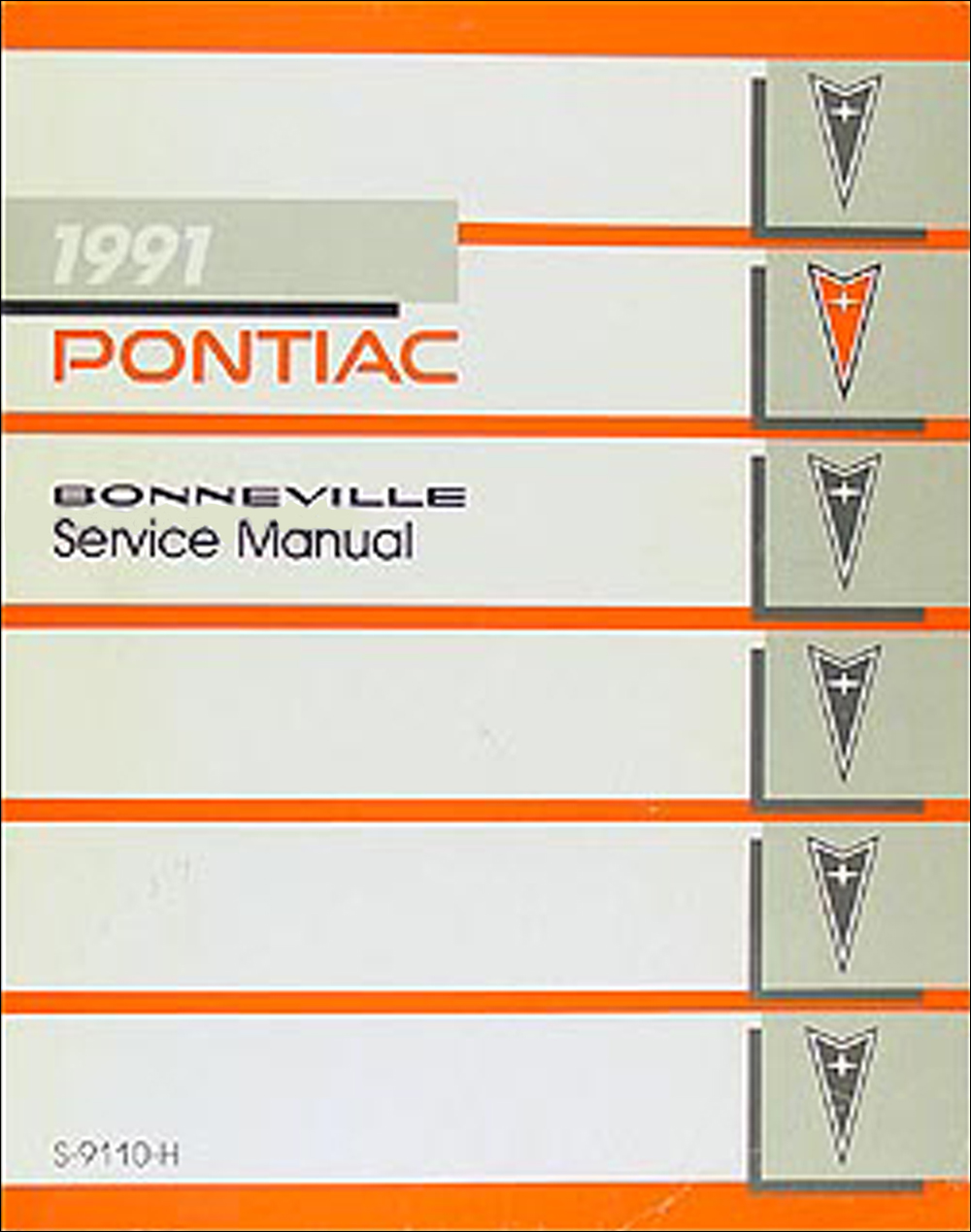 1991 Pontiac Bonneville Repair Manual Original