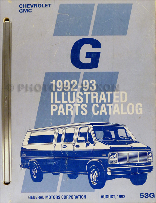 1993 Chevrolet GMC G Van Parts Book Catalog Beauville Rally Vandura Chevy 93