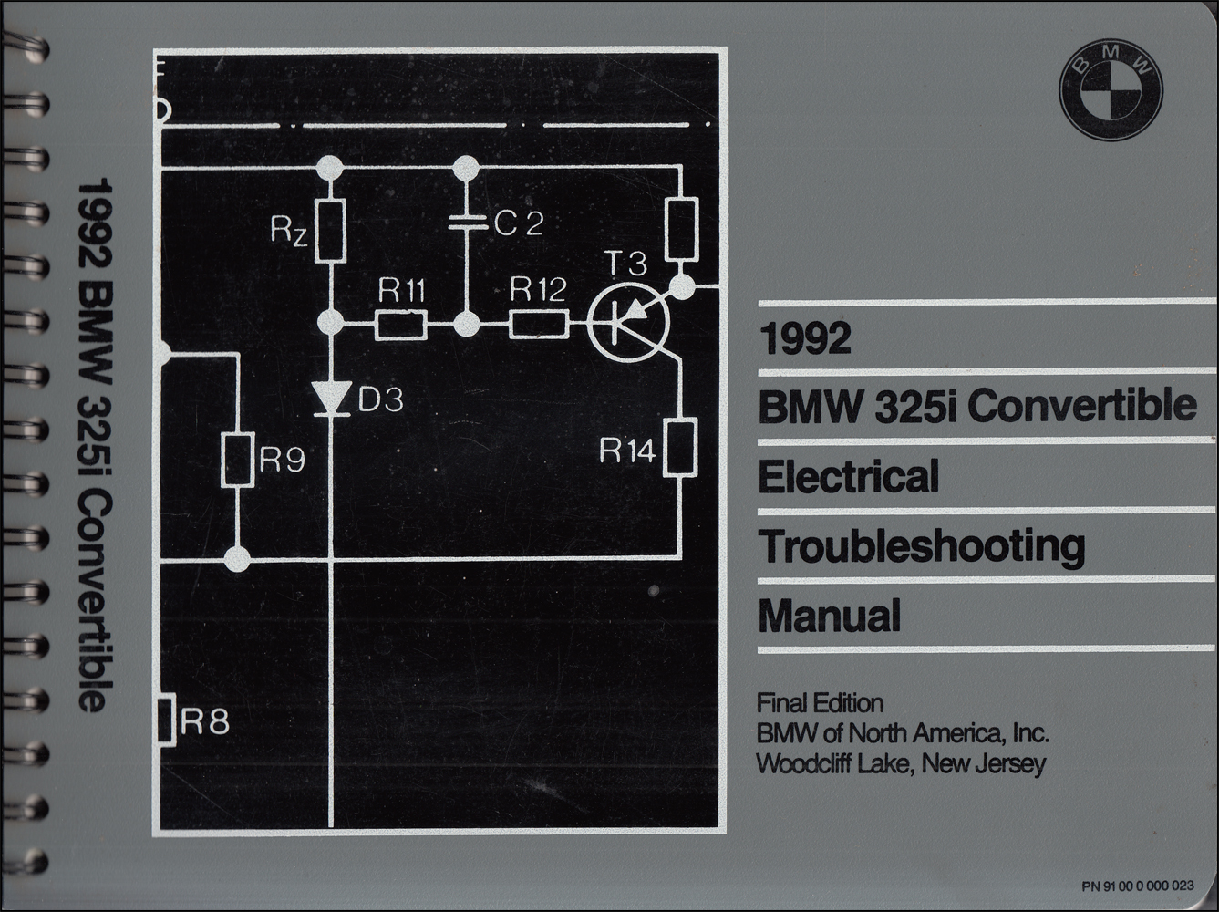 1992 BMW 325i Convertible Electrical Troubleshooting Manual