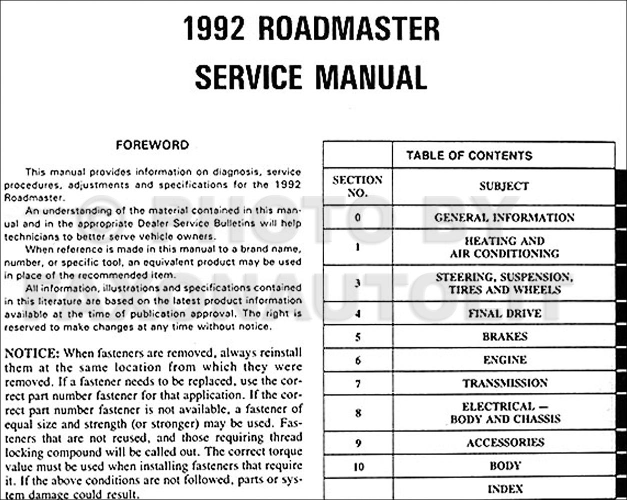 1991 Buick Roadmaster Wiring Diagram