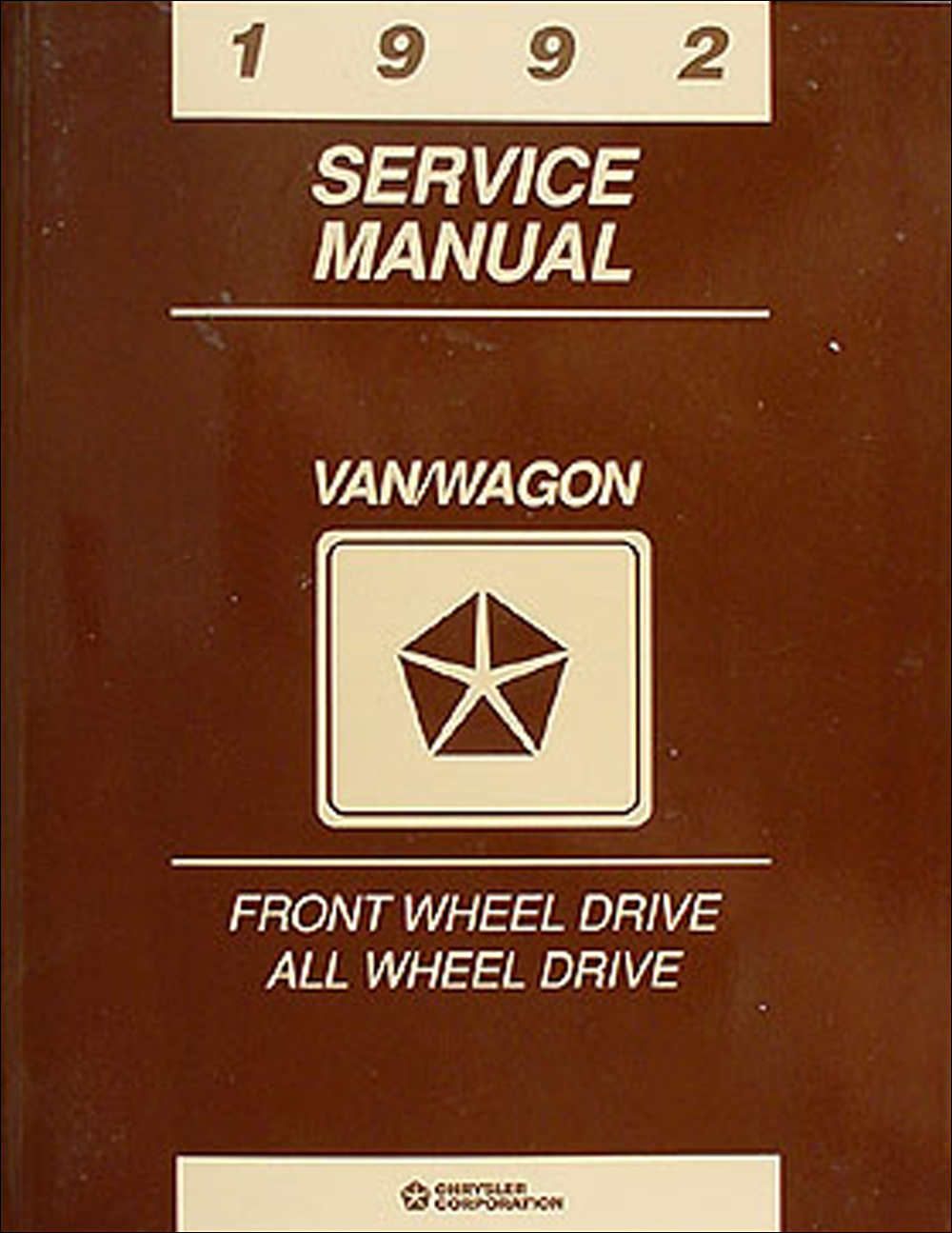 1992 Caravan, Town & Country, Voyager Shop Manual Original