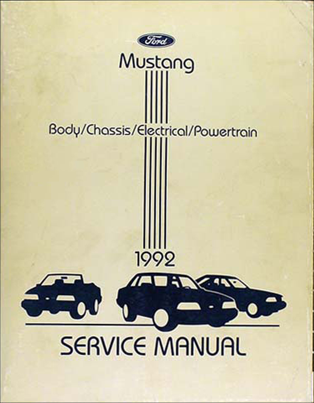 1992 Ford Mustang Shop Manual Original