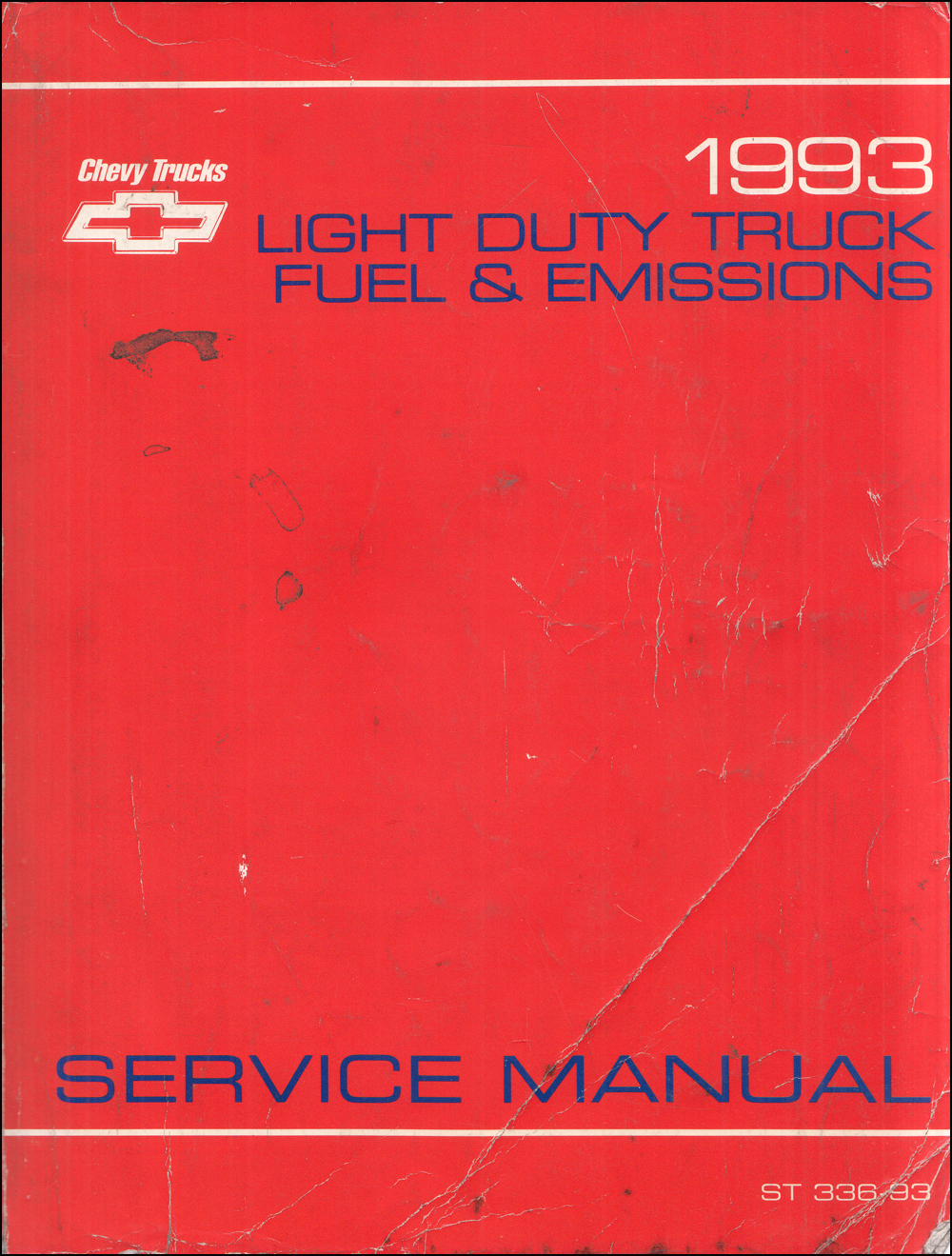 1993 Fuel & Emission Manual CK Pickup Blazer Suburban Astro S/T G P