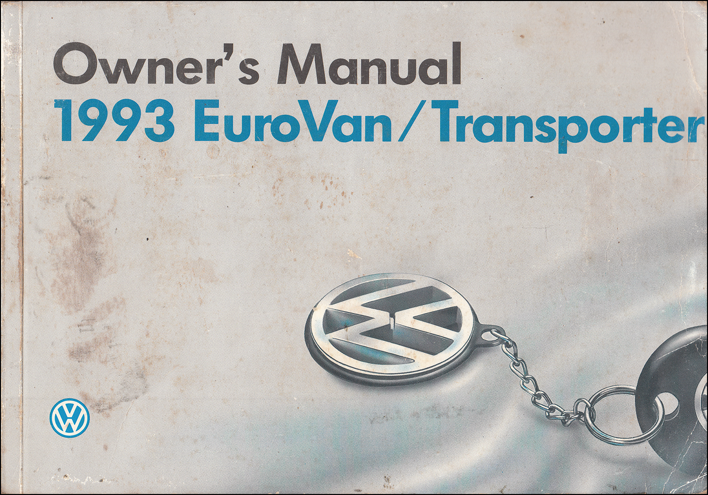 1993 Volkswagen EuroVan Owner's Manual Original