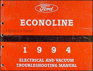 1994 ford econoline van \u0026 club wagon electrical troubleshooting manual Outlet Wiring Diagram