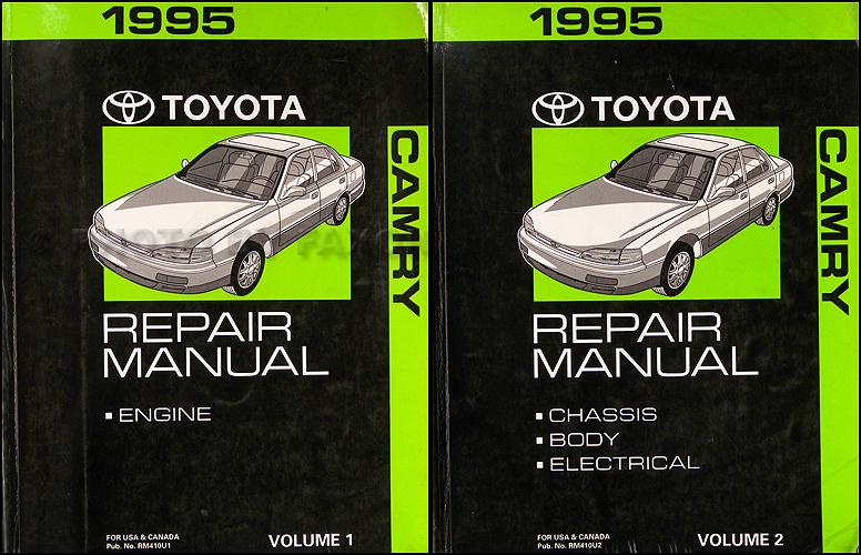 1995 Toyota Camry Repair Shop Manual Original 2 Vol Set