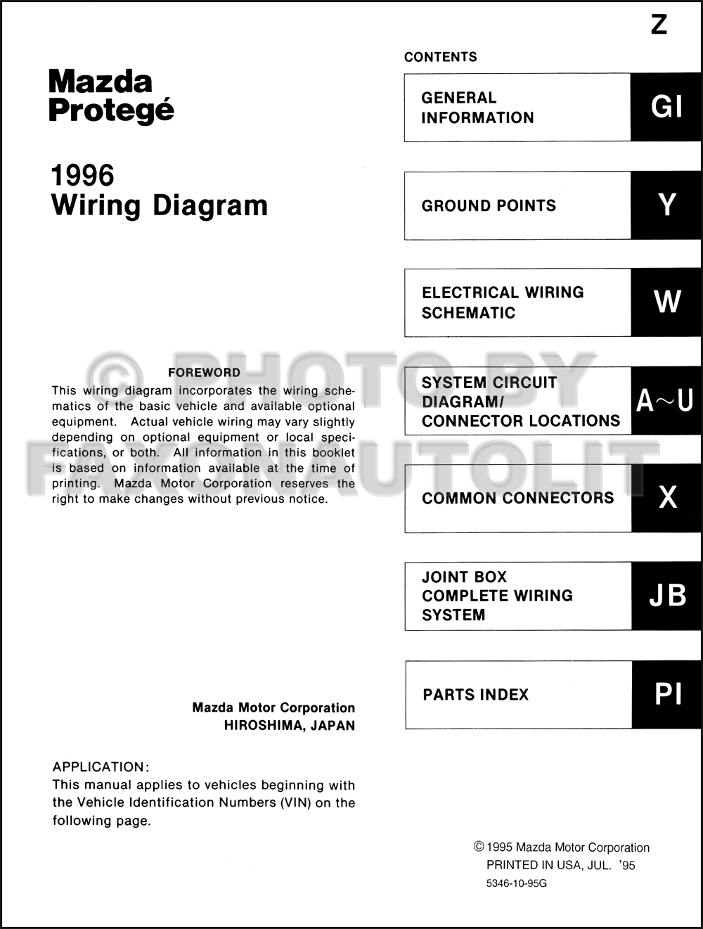 Mazda 6 Wiring Diagram Manual