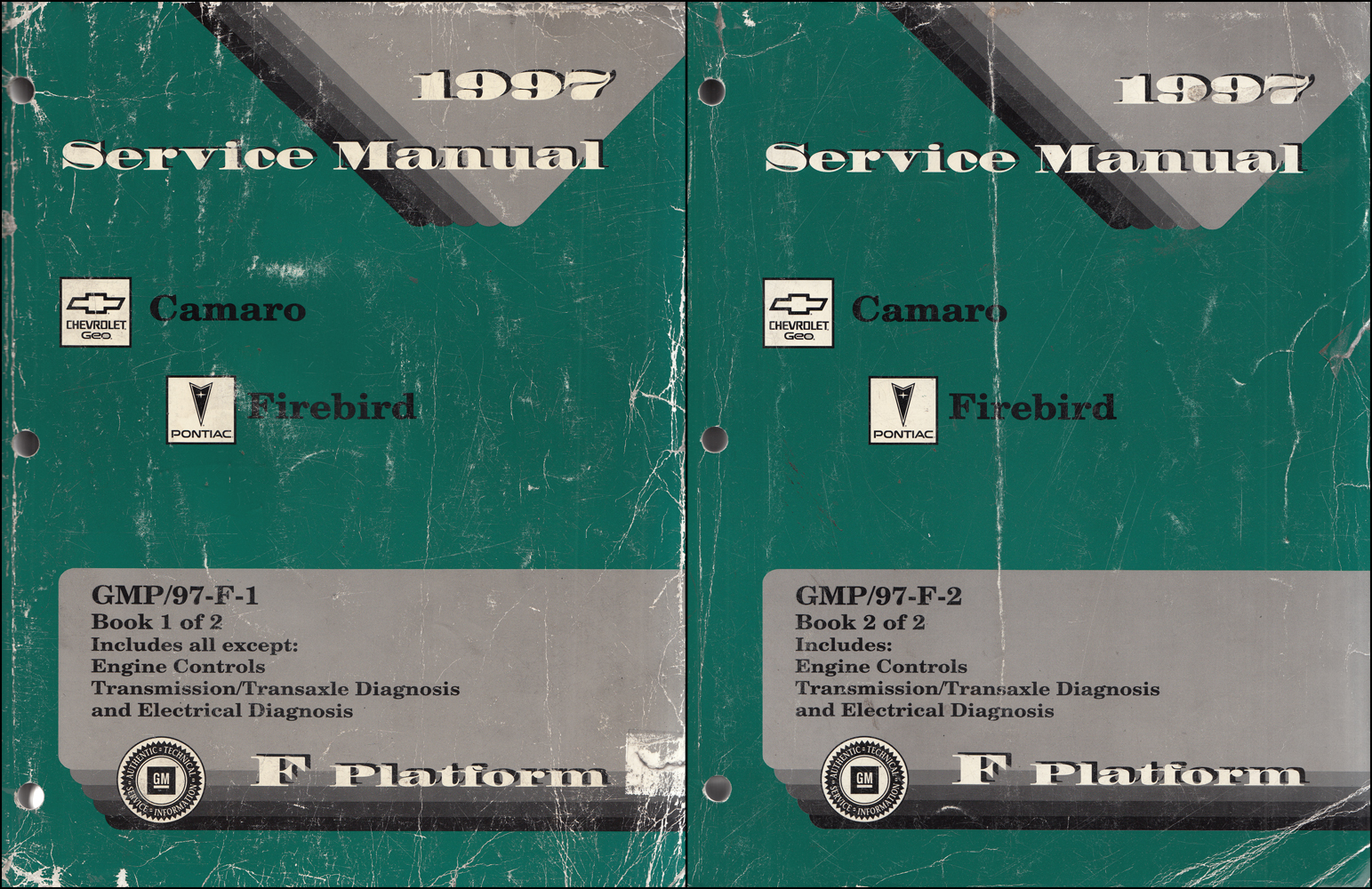 1997 Camaro, Firebird, & Trans Am Repair Manual Original 2 Volume Set