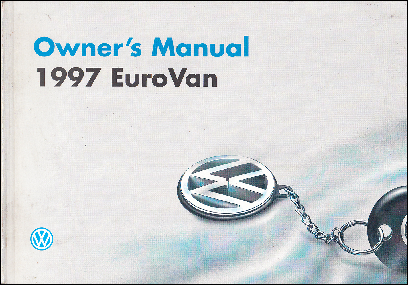 1997 Volkswagen EuroVan Owner's Manual Original