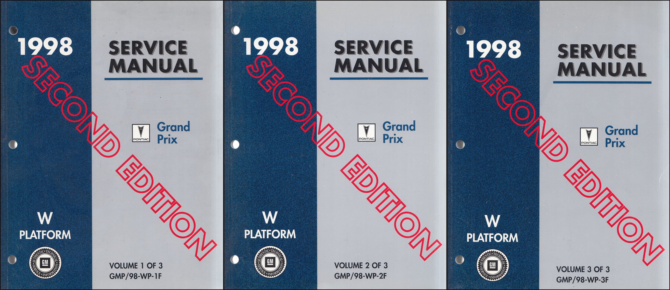 1998 Pontiac Grand Prix Repair Manual Original Second Ed. 3 Volume Set