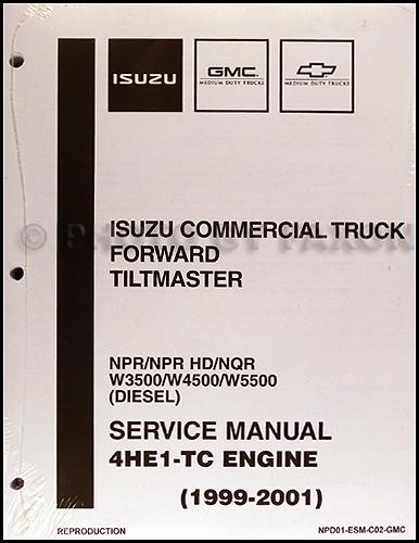 1999 2004 diesel engine 4he1 tc repair shop manual isuzu npr nqr w3500 w4500 w5500 2004 Toyota Sienna Fuse Diagram