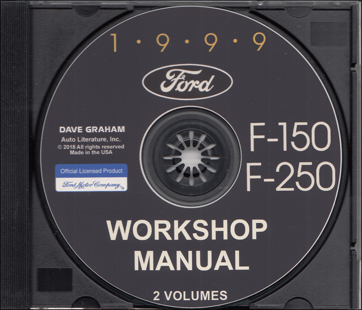 1999 Ford F-150 F-250 Repair Shop Manual on CD-ROM Original