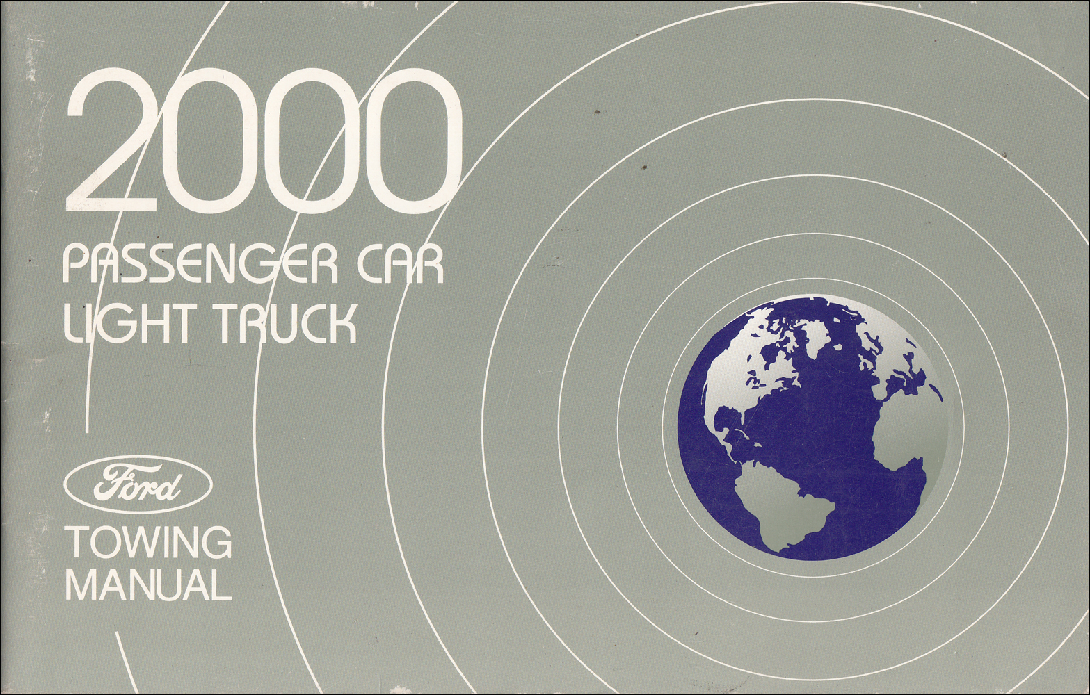 2000 Ford Car and Truck Towing Manual Original