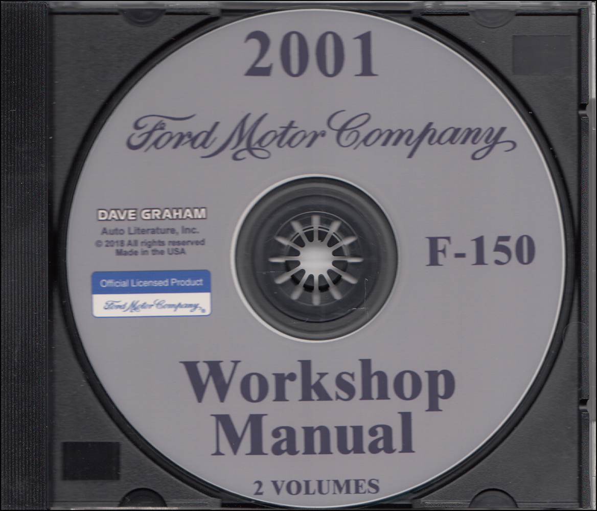 2001 Ford F-150 Pickup Truck Repair Shop Manual on CD-ROM Original