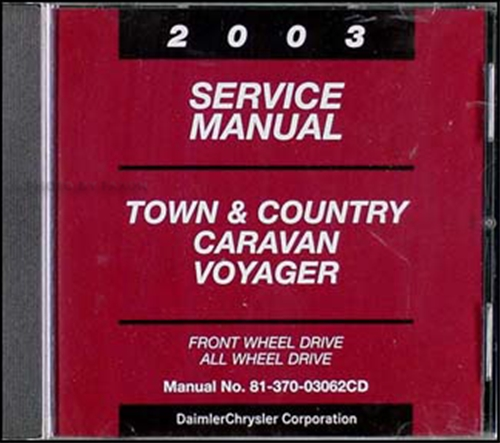 2003 Town & Country, Caravan, Voyager CD-ROM Repair Manual Original