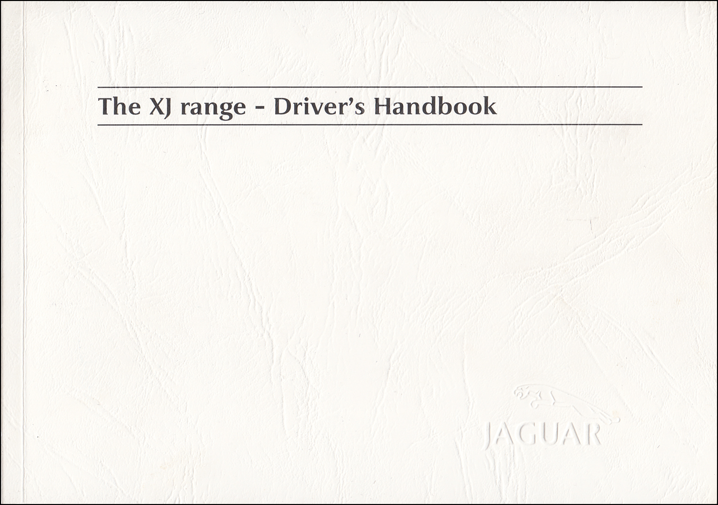 2004 Jaguar XJ8, XJR, and Vanden Plas Owners Manual Original