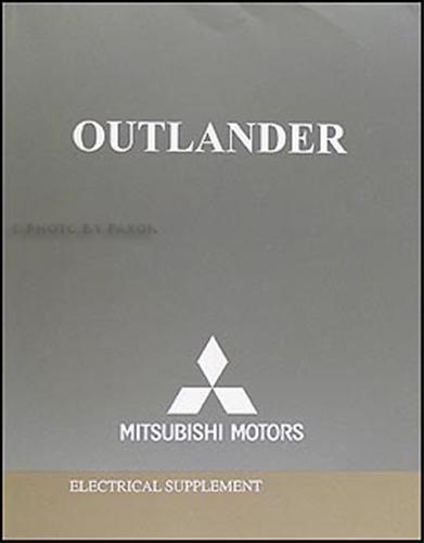 2005 Mitsubishi Outlander Repair Shop Manual 2 Volume Set