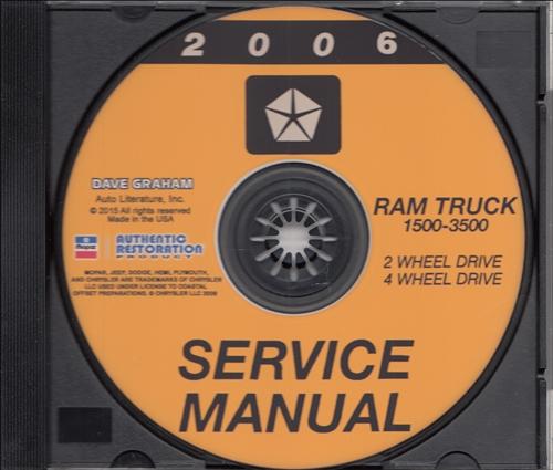 2006 Dodge Ram Truck Repair Shop Manual 6 Volume Set Original