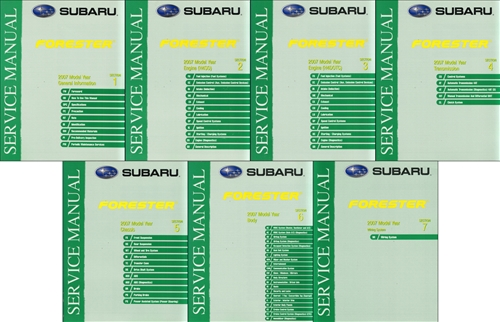 2005 Subaru Forester Repair Manual Original 7 Volume Set