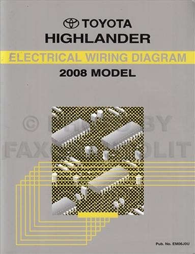 2006 Toyota Highlander Wiring Diagram Manual Original Diagram
