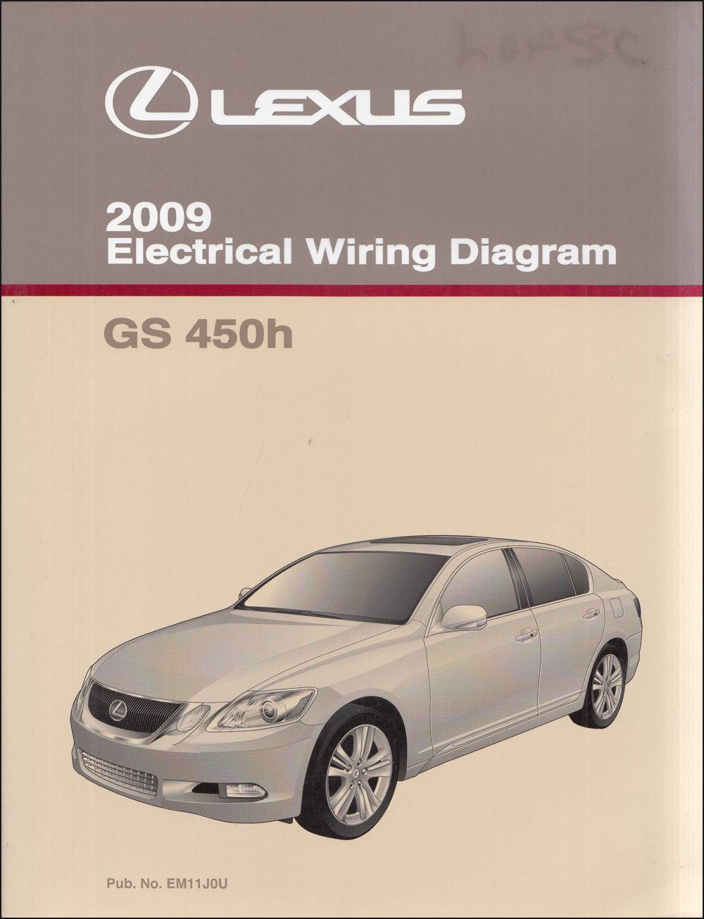 2009 Lexus GS 450h Wiring Diagram Manual Original