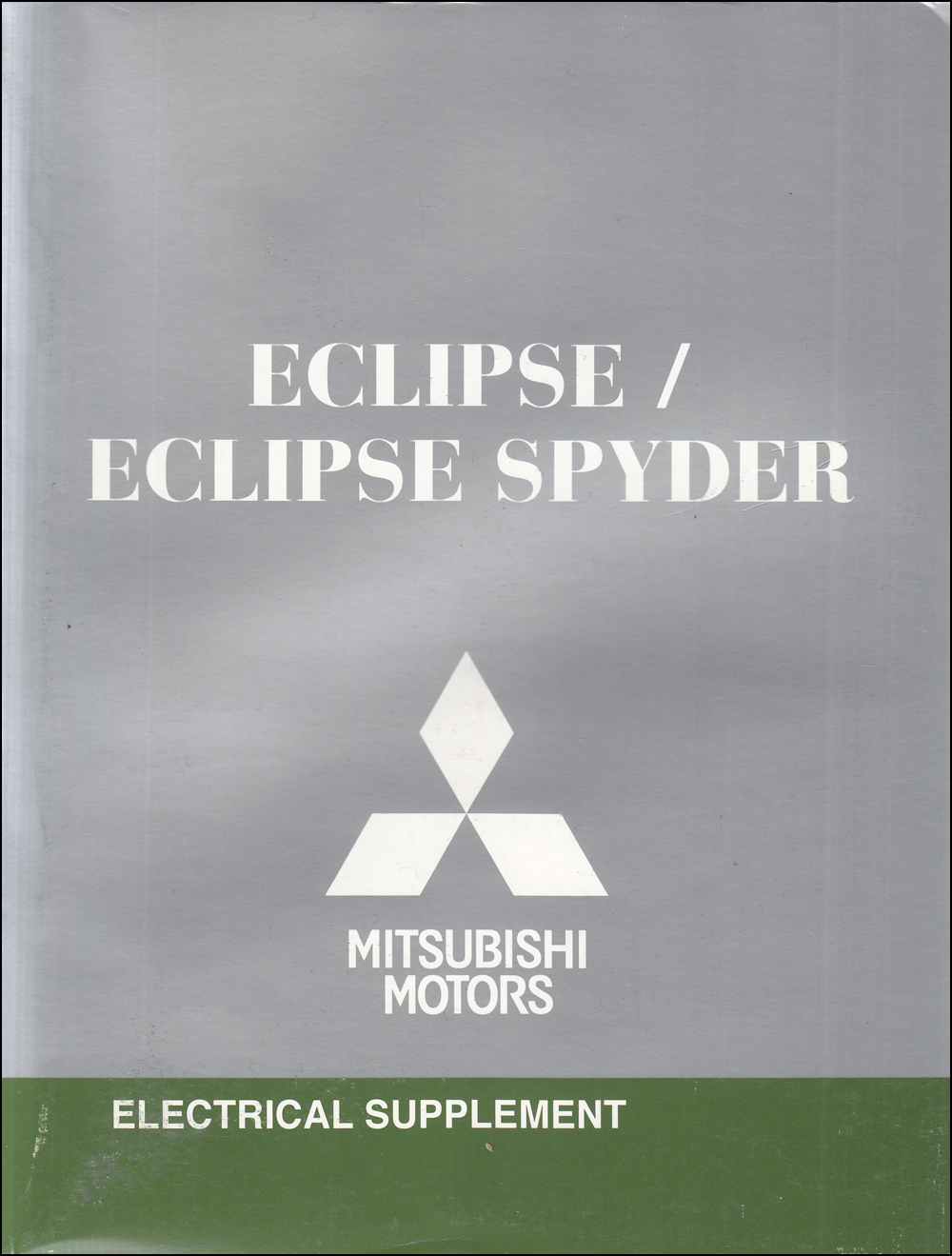 2010 Mitsubishi Eclipse & Spyder Wiring Diagram Manual Original