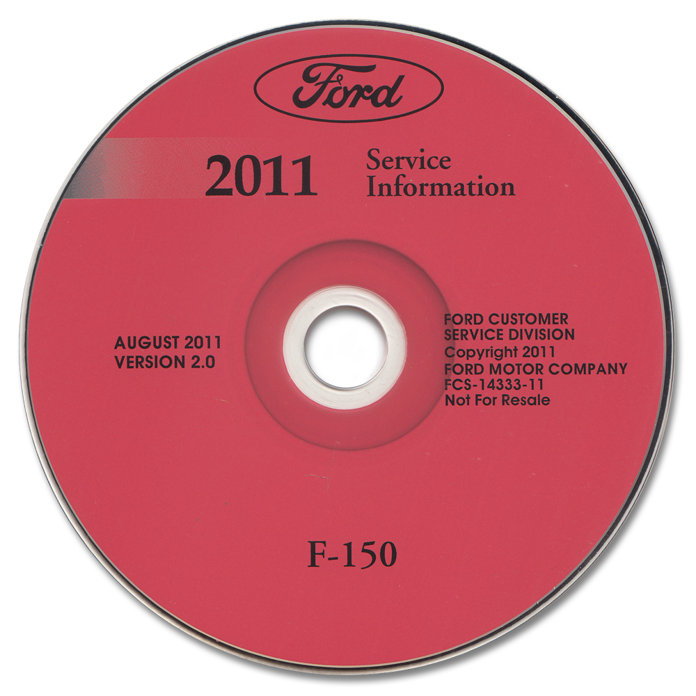 2011 Ford F-150 Pickup Truck Repair Shop Manual on CD-ROM Original