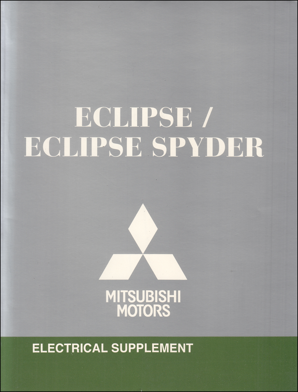 2011 Mitsubishi Eclipse & Spyder Wiring Diagram Manual Original