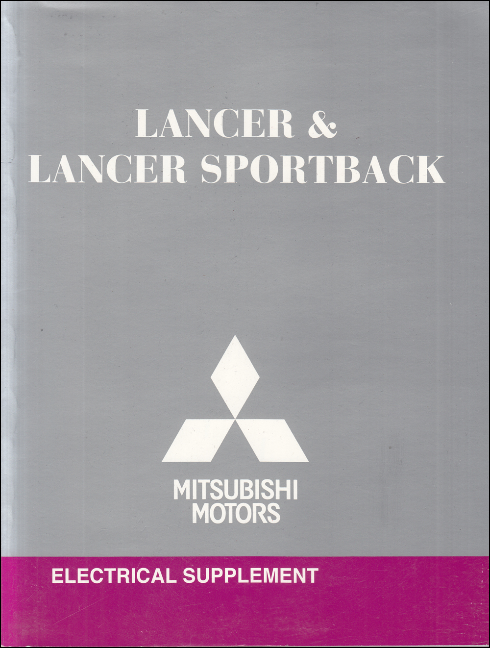 2011 Mitsubishi Lancer & Lancer Sportback Wiring Diagram Manual Original