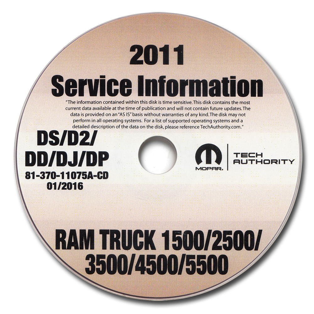 2011 Ram Truck 1500 2500 3500 4500 5500 Repair Shop Manual CD-ROM Dodge