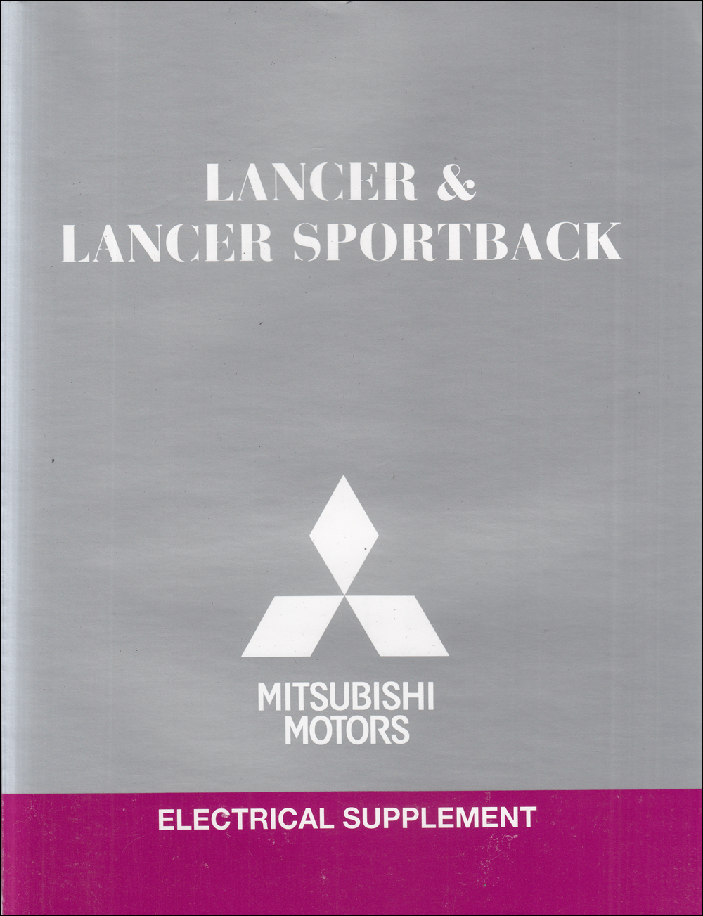 2012 Mitsubishi Lancer & Lancer Sportback Wiring Diagram Manual Original