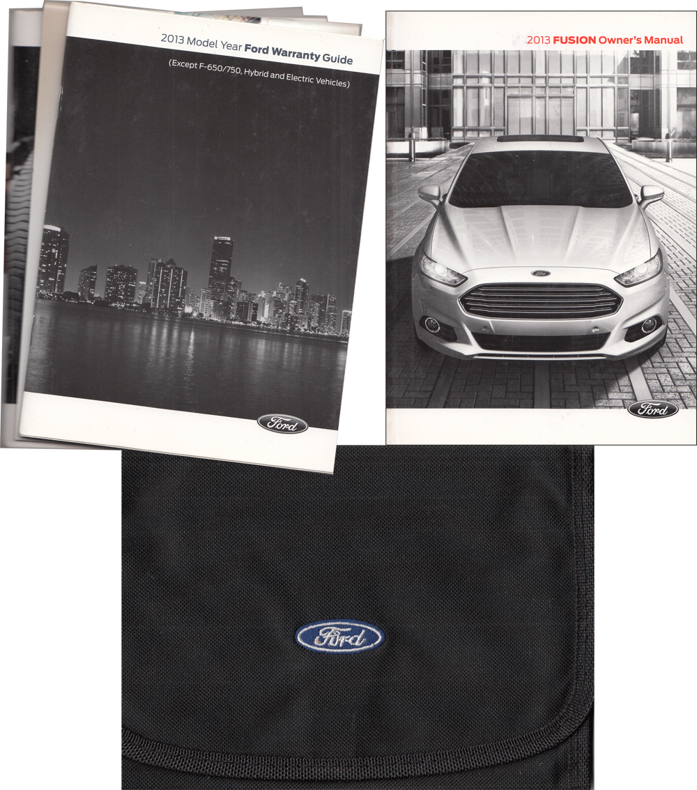 2013 Ford Fusion Gas Powered Owner's Manual Package with Case & Pamphlets Original