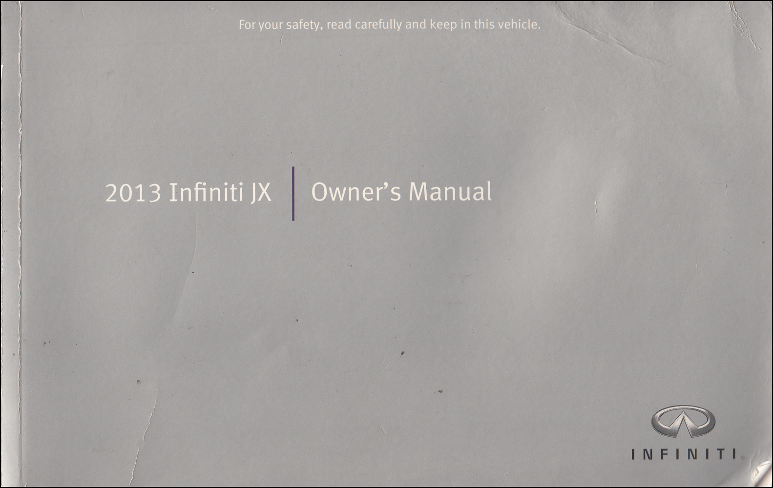 2013 Infiniti JX Owner's Manual Original